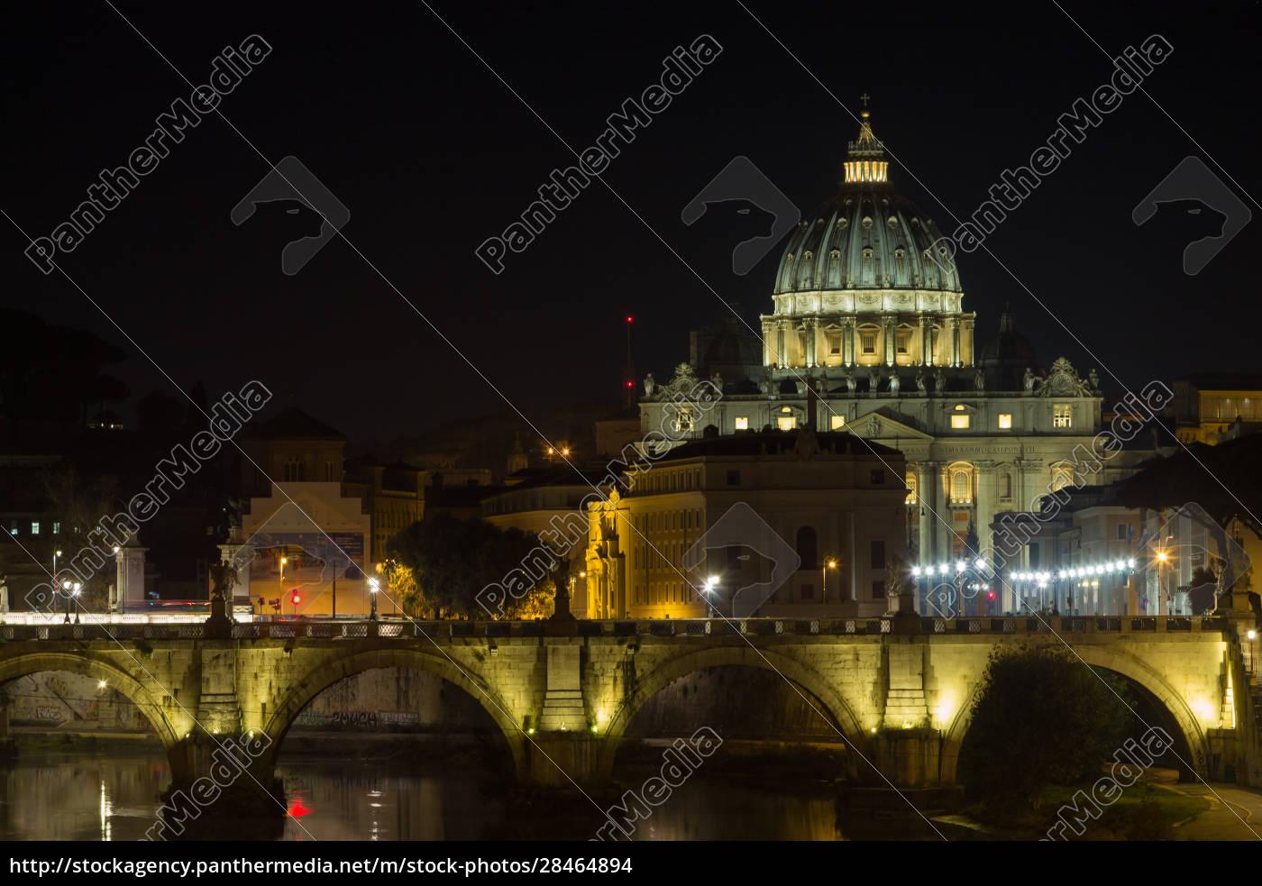 night, scene, of, rome, , tevere, river - 28464894