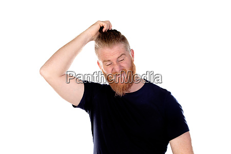 red haired man with long beard
