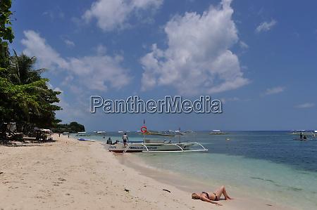 beach in panglao island in the