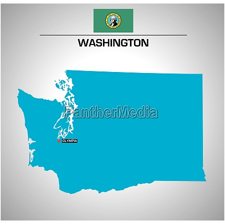 simple vector outline map of washington