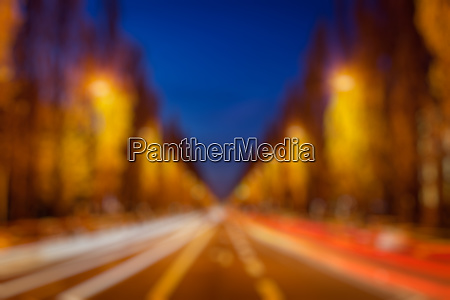 blurred background of street road in