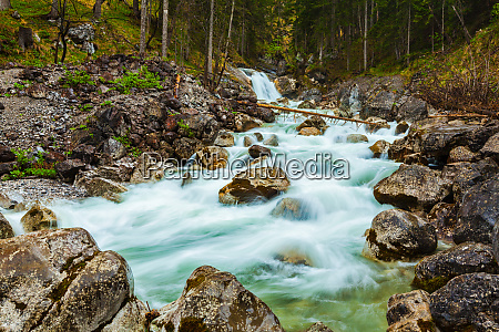 cascade of waterfall garmisch partenkirchen