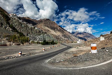 road to diskit gompa tibetan buddhist