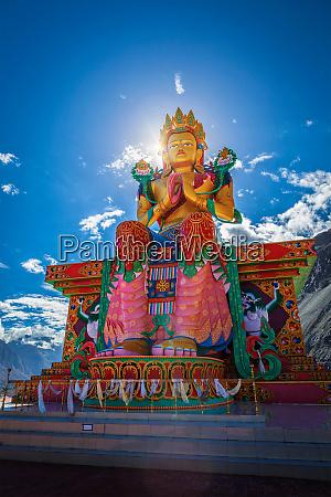 buddha maitreya statue in diskit gompa