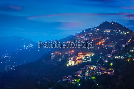 night, view, of, shimla, town, , himachal - 28468286