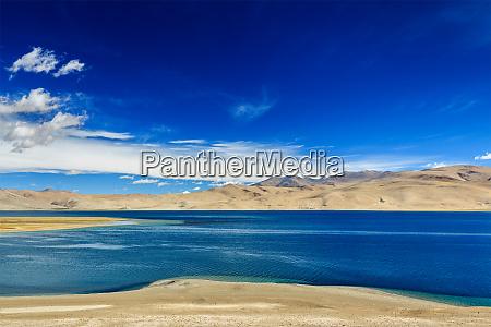 tso moriri lake in himalayas ladakh