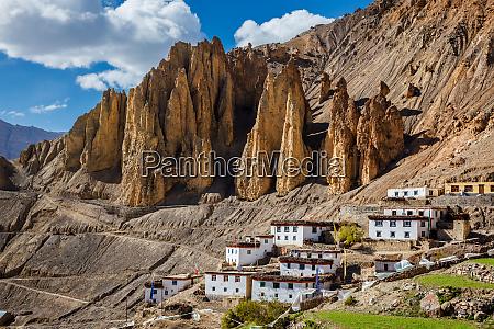 dhankar village spiti valley himachal pradesh
