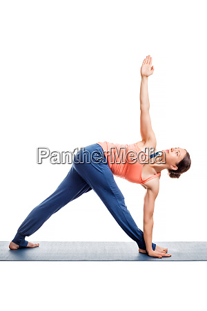 woman doing ashtanga vinyasa yoga