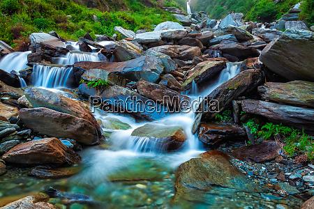 tropical waterfall bhagsu himachal pradesh india
