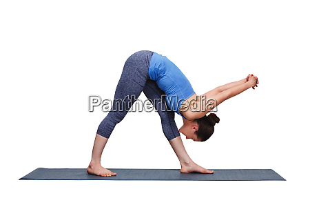 woman doing ashtanga vinyasa yoga asana