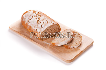 loaf of bread on a cutting