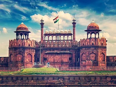 red fort lal qila delhi india