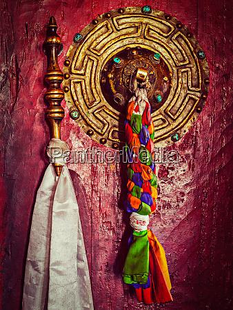 door handle of buddhist monastery