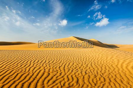 dunes of thar desert rajasthan india
