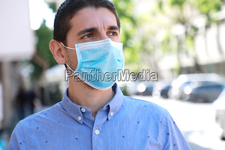 covid 19 pandemic coronavirus man in