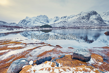fjord in winter norway