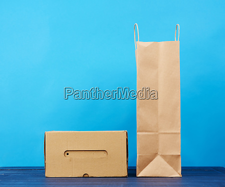 paperr box and brown paper bag