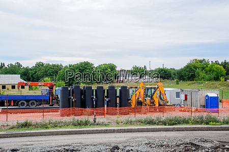 construction of sewerage system equipment and