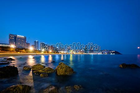 haeundae beach in busan south korea