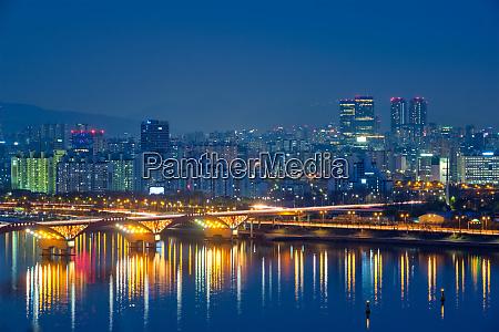 seoul night view south korea