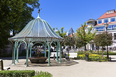 balneological department with fountain by the