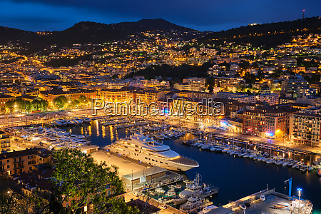 view of old port of nice