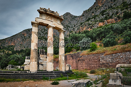 athena pronoia temple ruins in ancient