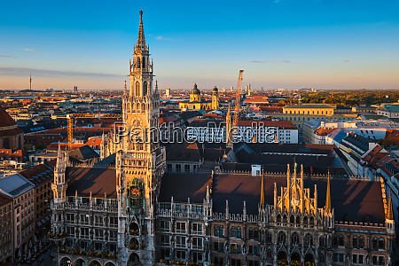 aerial view of munich germany