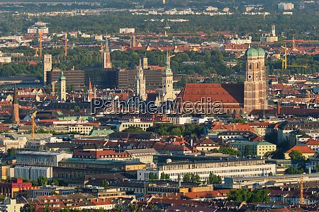 aerial view of munich munich bavaria