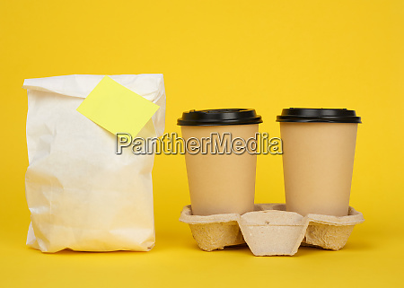 white paper bag brown paper disposable