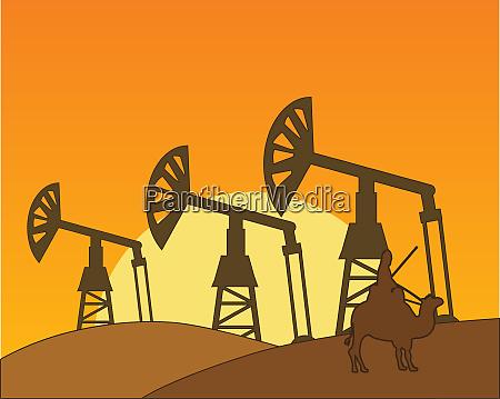 mining to oils in hot desert