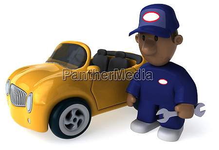 fun mechanic 3d illustration
