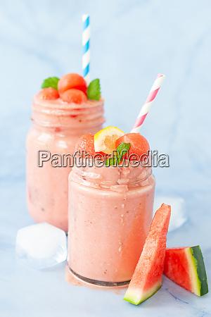 delicious milkshake with water melon