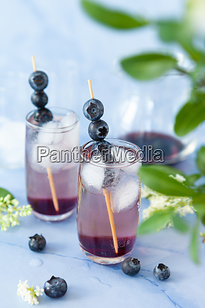 cocktail with blueberries