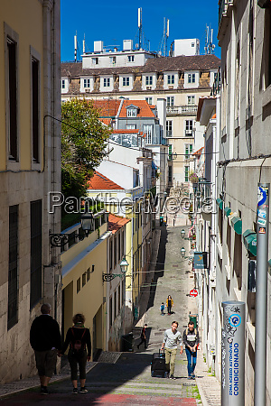lisbon portugal may 2018 people