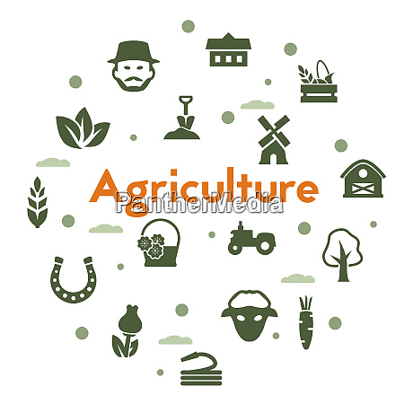 agriculture and organic food icons