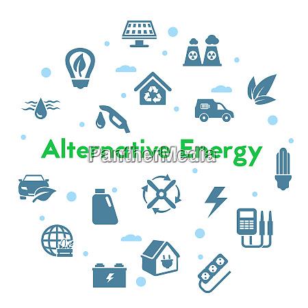 alternative energy sources icons