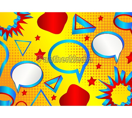 minimalist abstract speech bubble pattern background