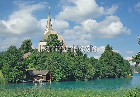 maria woerth church lake woerthersee carinthia