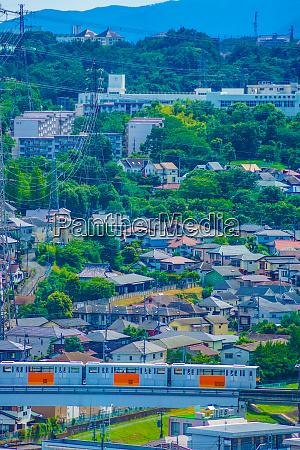 tama monorail which runs a residential
