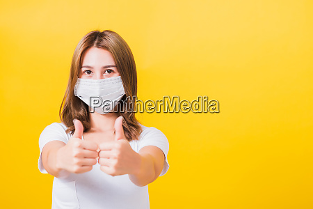 woman wearing mask protection show thumb