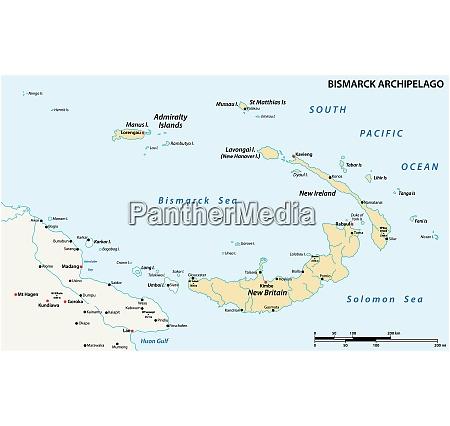 vector map of the bismarck archipelago