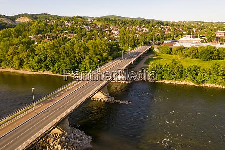 aerial view of podsusedski bridge empty