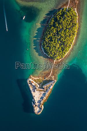 aerial view of saint nicholas fortress