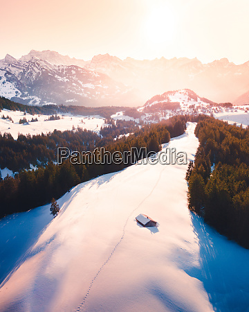 aerial view of amden switzerland