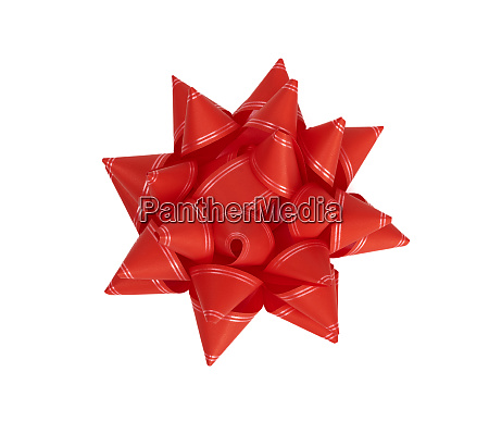 red bow from red decorative paper