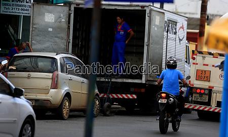 cargo delivery truck in salvador
