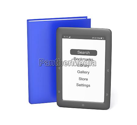 e book reader and book