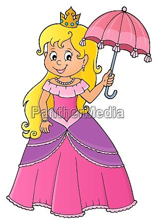 princess with umbrella theme image 1