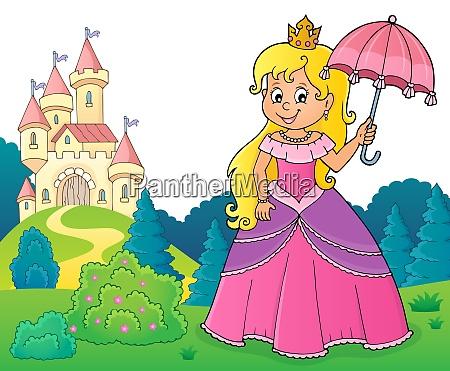 princess with umbrella theme image 3
